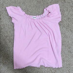 Garage Pink Off Shoulder Top
